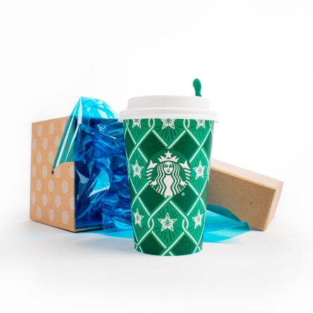 Starbucks coming out of box